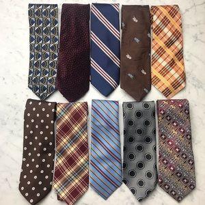 Lot of Men's Vintage Ties Printed Striped Necktie